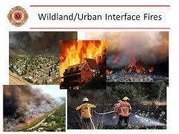wild-urban interface fires